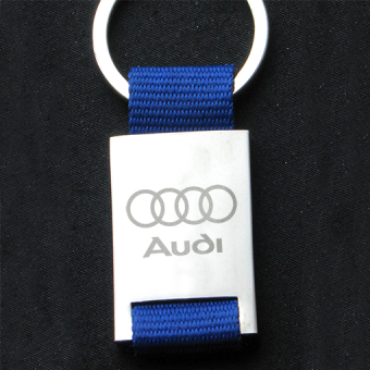 Metal Keyring with meshbelt AUDI