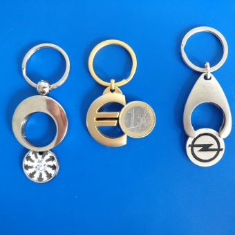 Custom Trolley Token Key Ring keyring