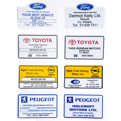 Service Reminder Stickers- Franchise