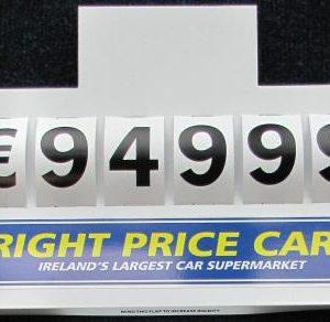 Sun Visor Pricing Board