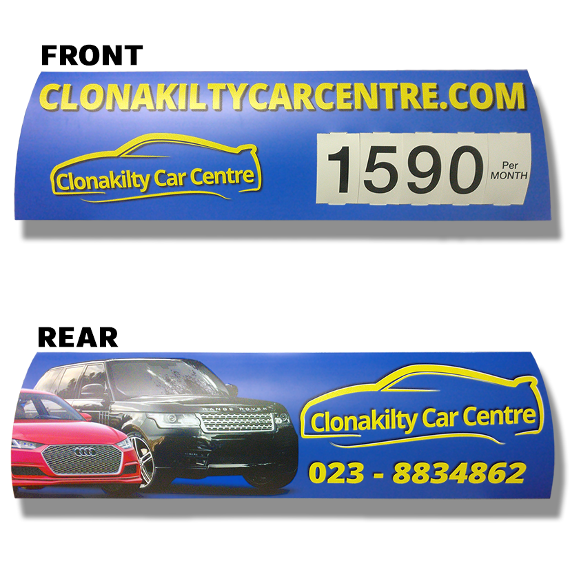 Full Colour Personalized Headboard Car Topper