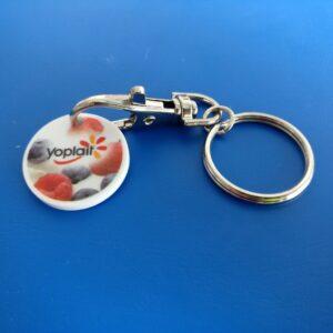 Trolley Token Key Ring keyring