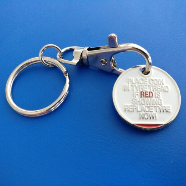 Trolley Token Key Ring keyring