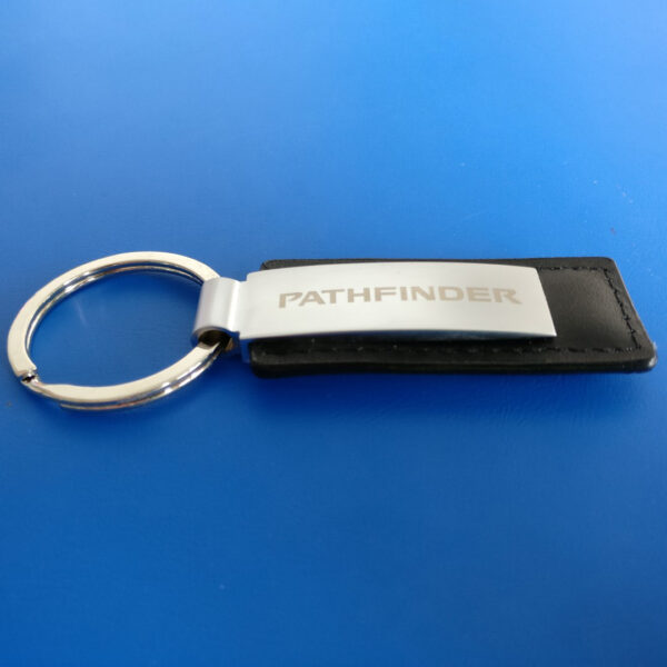 Leather Keyring with Personalised Clip