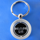 Spinning Coloured Metal Key Ring