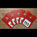 Key Management Mirror Plaques Red
