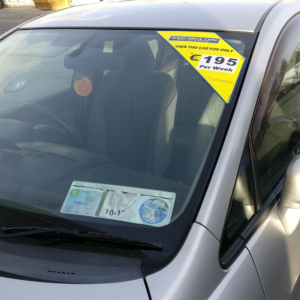 Windscreen Corner Pricing Sticker