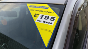 Windscreen Corner Pricing Sticker