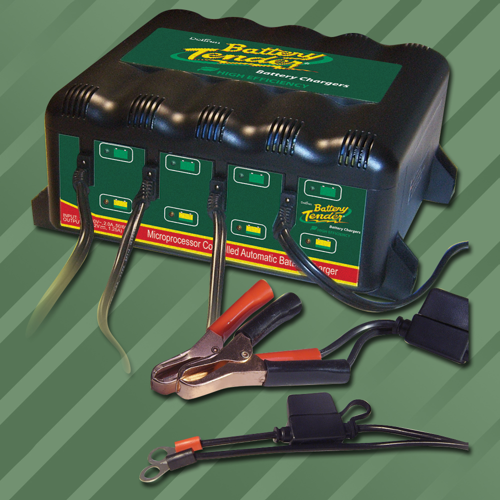 4-Bank International Battery Charger - 12V @ 1.25A Each Bank
